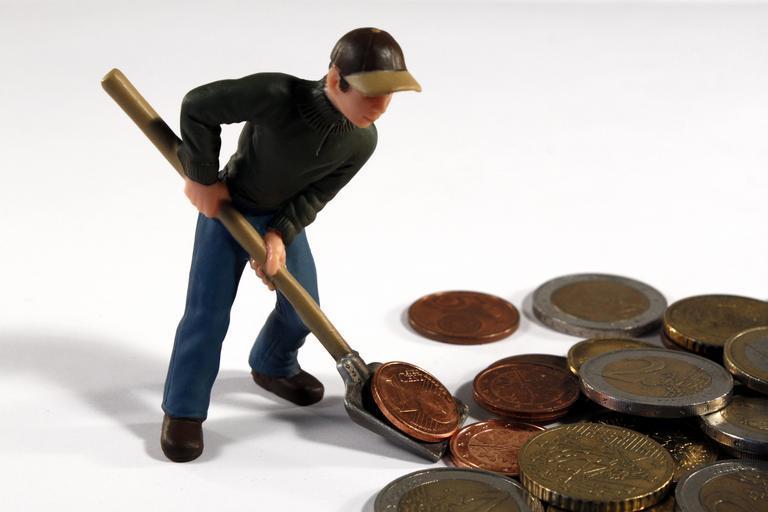 panáček s mincemi